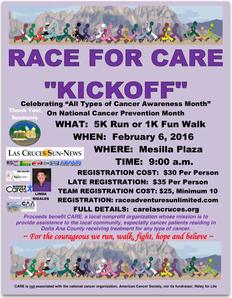 RACE FOR CARE KICKOFF FLYER