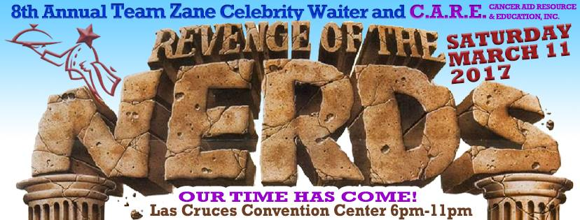 The WINNER is CARE!  CARE is very excited to be the beneficiary of the 8th Annual Team Zane Celebrity Waiter event!  Join Us, contact Yoli Diaz at 575-649-0598 to be a sponsor or waiter!